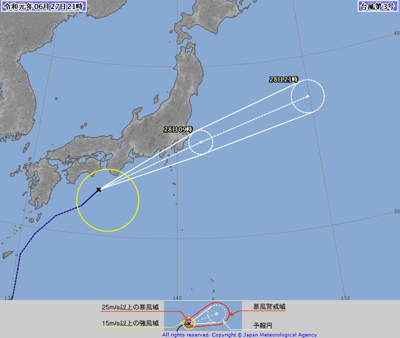 2019台風3号
