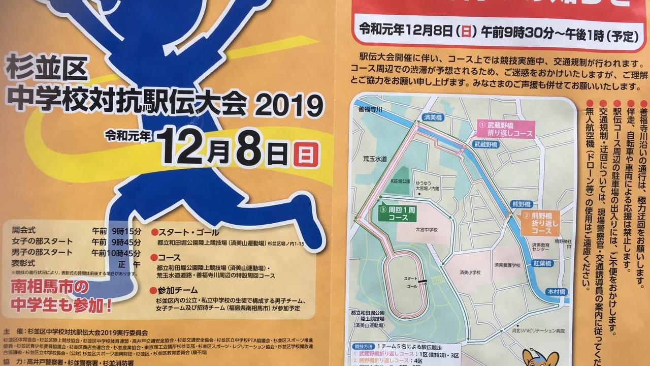 杉並区中学校対抗駅伝大会2019